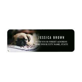 Cute Vintage Pug custom return address label
