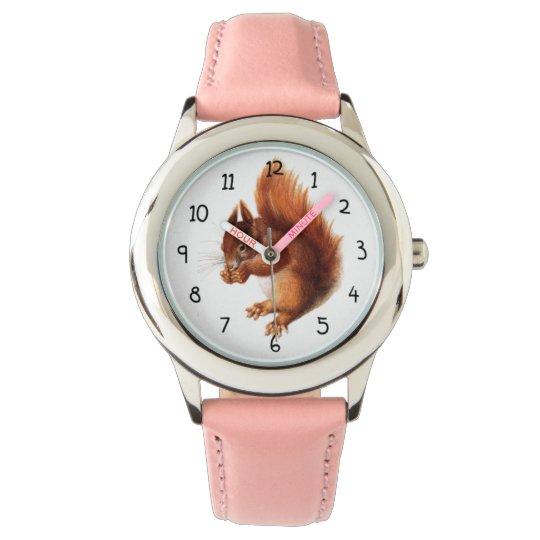 Cute Vintage Red Squirrel Watch