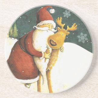 Cute Vintage Santa Claus Coasters