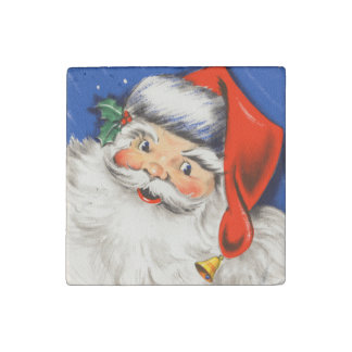 Cute Vintage Santa Claus Stone Magnet