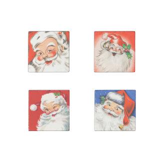 Cute Vintage Santa Set Stone Magnet