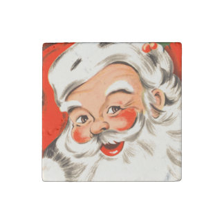 Cute Vintage Santa Stone Magnet