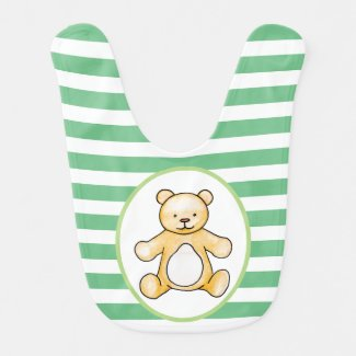 Cute vintage teddy bear drawing bib