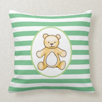 Cute vintage teddy bear drawing cushion