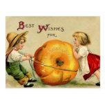 Cute Vintage Thanksgiving Greeting Postcard