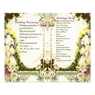 cute vintage wedding program flyer