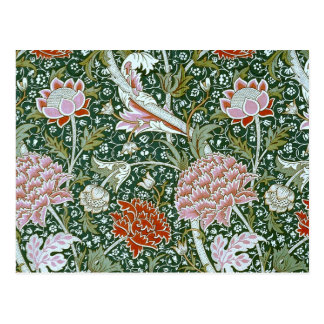 Cute Vintage William Morris Pattern Postcard