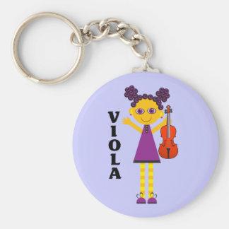 Cute Viola Girl Keychain