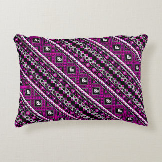 Cute violet lovely ukrainian patterns decorative cushion