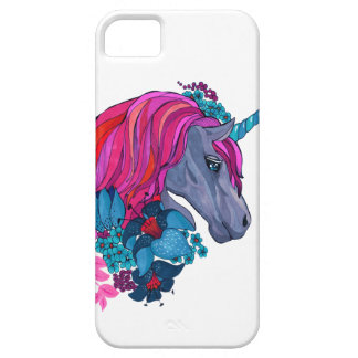 Cute Violet Magic Unicorn Fantasy Illustration Barely There iPhone 5 Case
