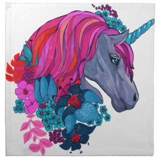 Cute Violet Magic Unicorn Fantasy Illustration Napkin