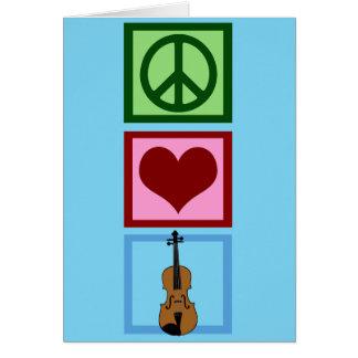 Cute Violin Blue Greeting Card