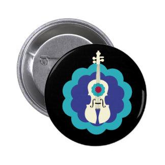 Cute Violin Burst Button