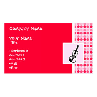 Cute Violin Pack Of Standard Business Cards