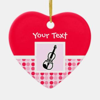 Cute Violin Ceramic Heart Decoration