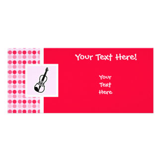 Cute Violin Full Color Rack Card