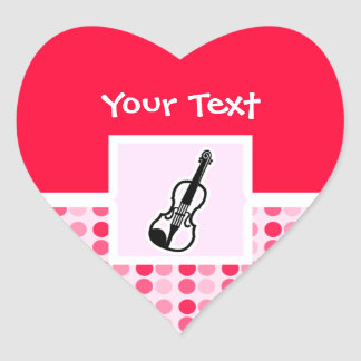 Cute Violin Heart Sticker