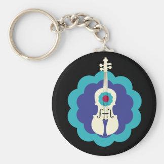Cute Violin Keychain