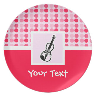 Cute Violin Party Plate