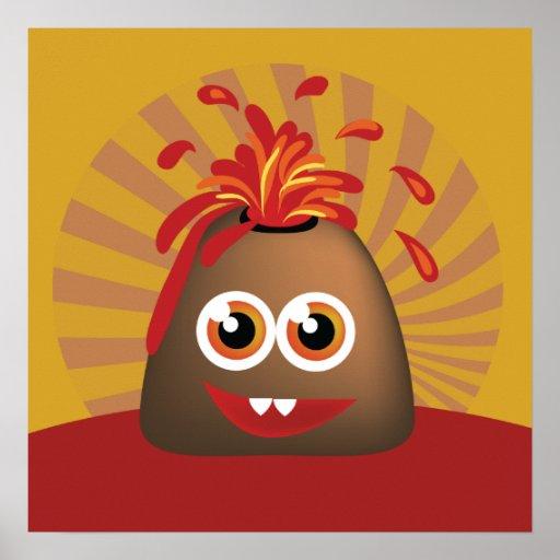 Cute Volcano Poster