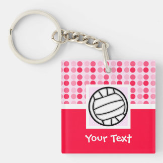 Cute Volleyball Acrylic Keychain