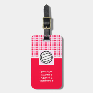 Cute Volleyball Bag Tag