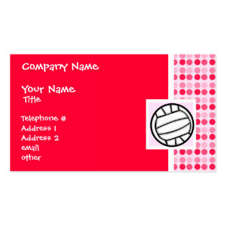 Cute Volleyball Business Cards