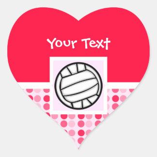 Cute Volleyball Heart Sticker