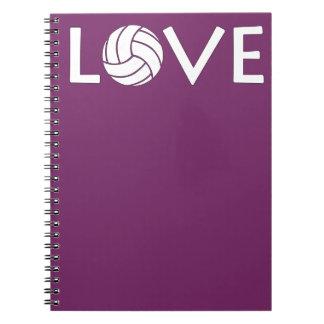 Cute Volleyball Love Notebook