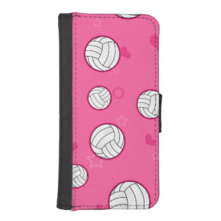 Cute Volleyball Pattern Pink Phone Wallet