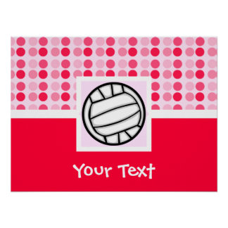 Cute Volleyball Poster