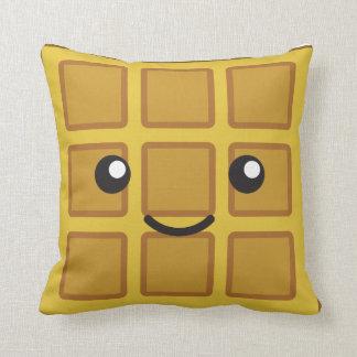 Cute Waffle Throw Pillow