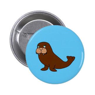 Cute Walrus 6 Cm Round Badge