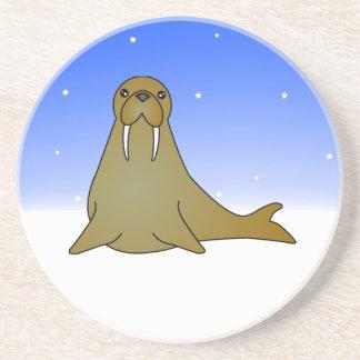 Cute Walrus Cartoon in the Snow Coaster