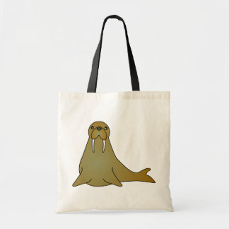 Cute Walrus Cartoon Tote Bag