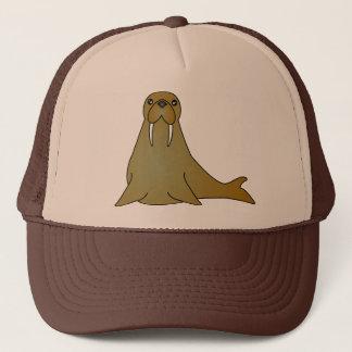 Cute Walrus Cartoon Trucker Hat