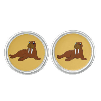 Cute walrus cuff links