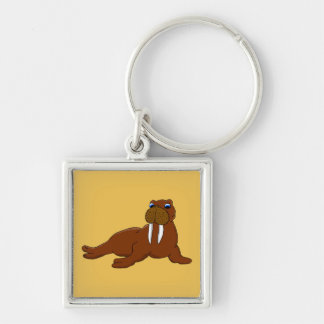 Cute walrus key ring