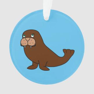 Cute Walrus Ornament