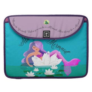 Cute Water Lily Mermaid Macbook Pro Sleeve