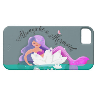 Cute Water Lily Mermaid Phone Case
