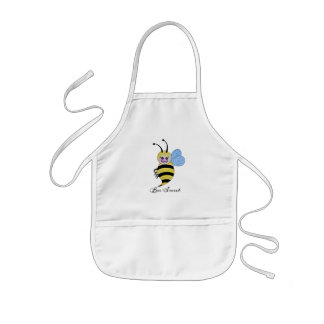 Cute Watercolor Bee With Happy Smile Kids Apron