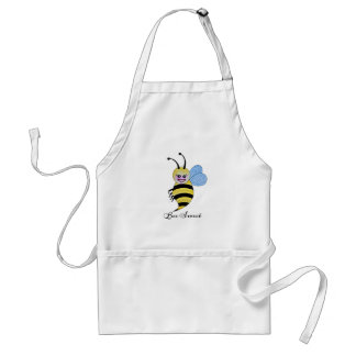 Cute Watercolor Bee With Happy Smile Standard Apron
