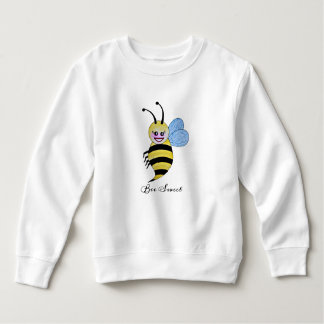 Cute Watercolor Bee With Happy Smile Sweatshirt