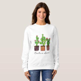 Cute Watercolor Cactus In Pots Sweatshirt