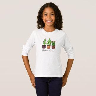 Cute Watercolor Cactus In Pots T-Shirt
