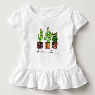 Cute Watercolor Cactus In Pots Toddler T-Shirt