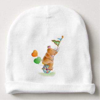 Cute watercolor Circus rhino baby hat Baby Beanie