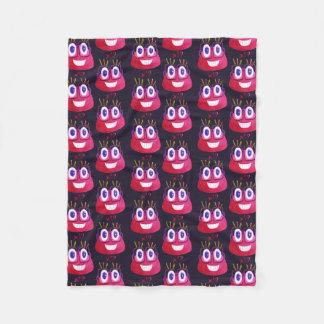 Cute Watercolor Geek Candy Character Math Pattern Fleece Blanket