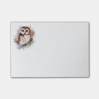 Cute Watercolor Owl Bird Nature art Post-it Notes
